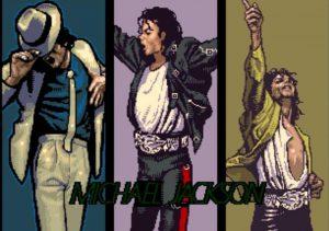 cinematique d'ouverture du jeu video moonwalker arcade sur borne sega systeme 18