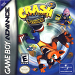 boite du jeu crash bandicoot 2 ntranced sur game boy advance