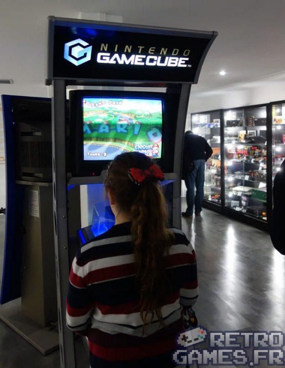 borne jeu gamecube nintendo mario double dash pixel museum musée des jeux vidéo schiltigheim