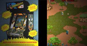 jeu vidéo commando sur borne d'arcade 1985
