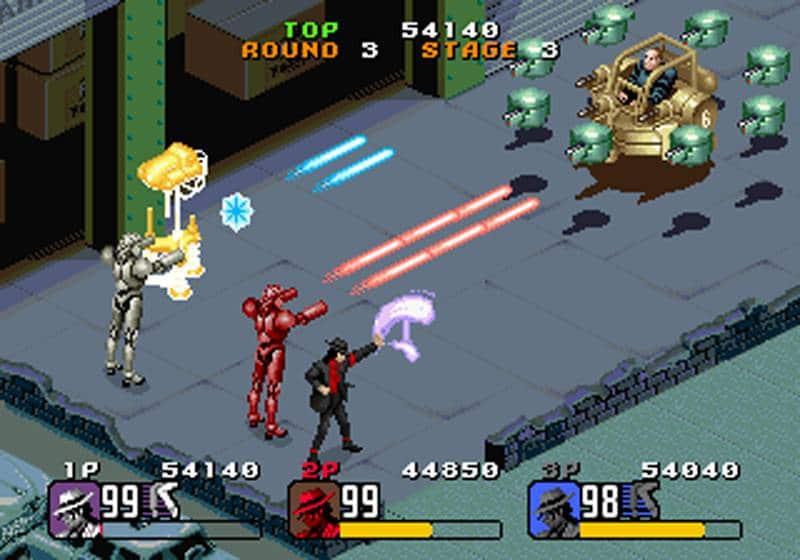 combat boss final mister big moonwalker arcade
