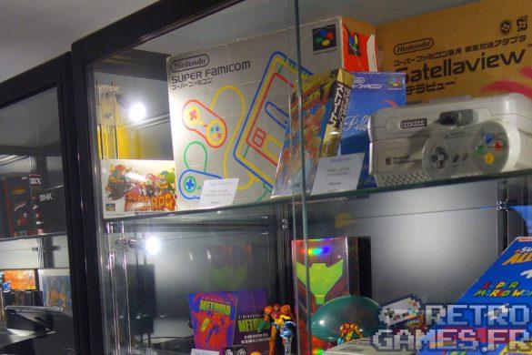vitrine console et accessoires super nes nintendo pixel museum musée des jeux vidéo schiltigheim