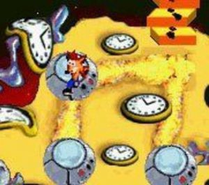 warp zone temps horloges crash bandicoot ntranced advance