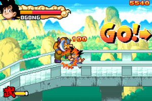 premier niveau du jeu drangon ball advanced adventure sur GBA
