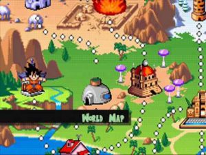 carte des niveaux du jeu dragonball advanced adventure sur gameboy advance