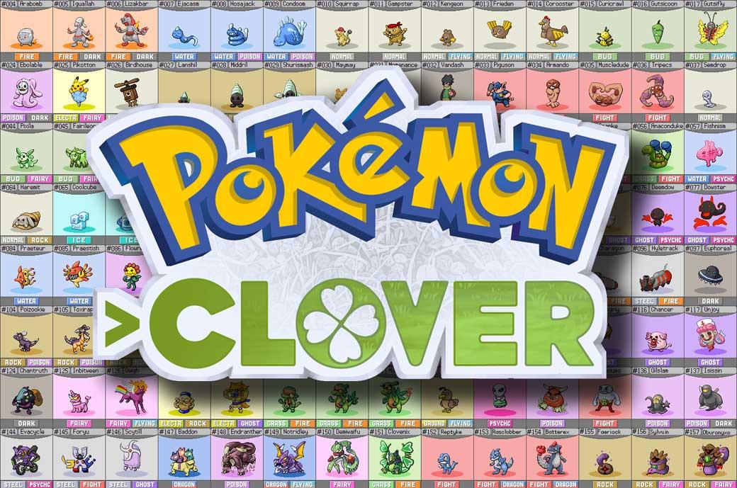 logo du jeu pokémon clover avec partie pokédex 4chan