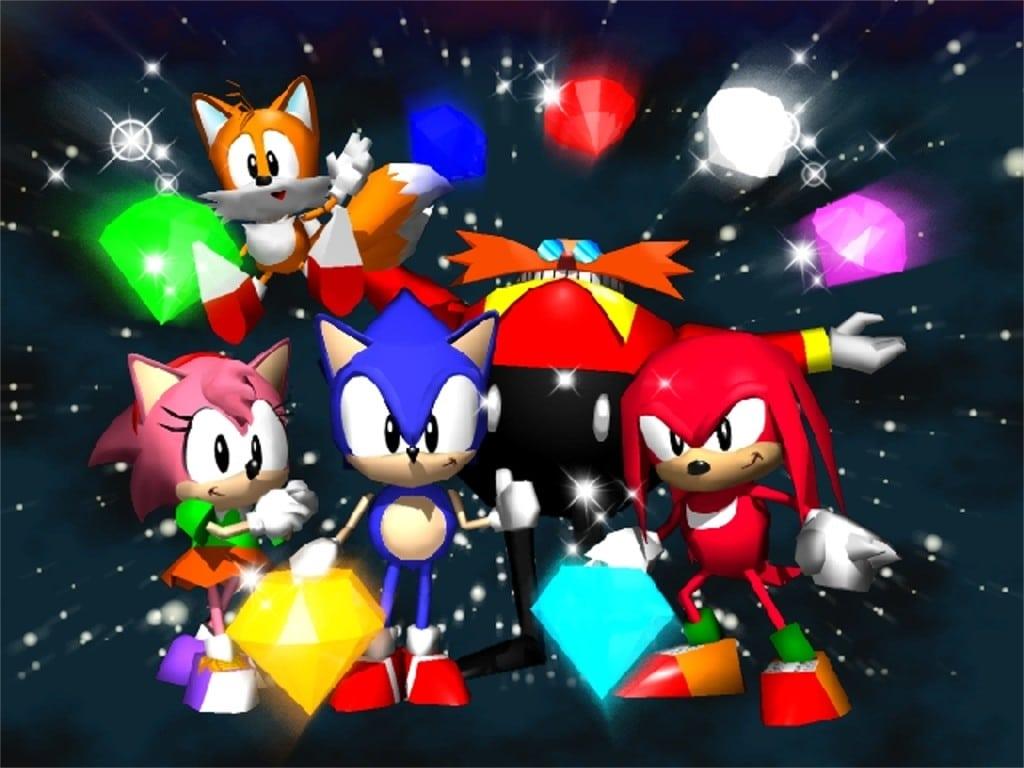 personnages jouables de sonic r sonic tails knuckles robotnik amy