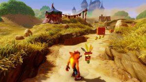 Premier niveau du jeu warped crash bandicoot n sane trilogy