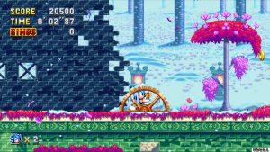 niveau neige glace dans nouveau sonic en 2D sur consoles next gen ps4 Xbox switch