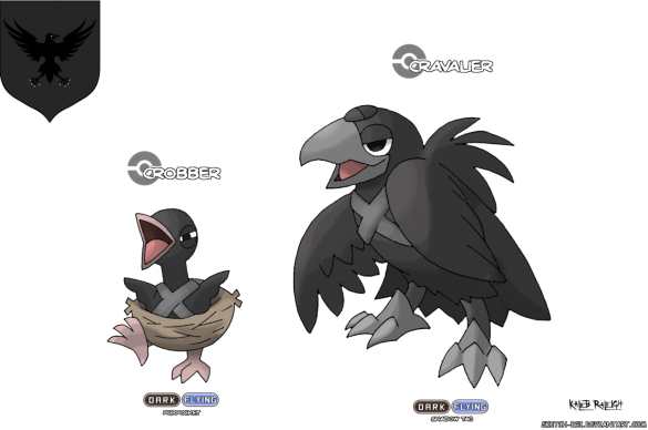 corbeau game de nuit nights watch game of thrones en version pokémon