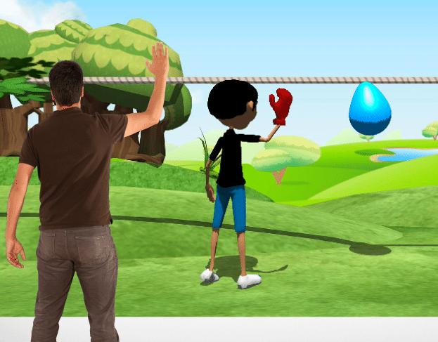 jeu vidéo avec kinect pour la reeducation musculaire kynapsys