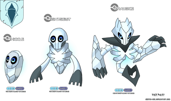 mort vivant roi de la nuit marcheur blanc white walker game of thrones en version pokémon