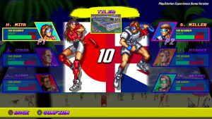 personnages jouables windjammers remaster PS4 PSN