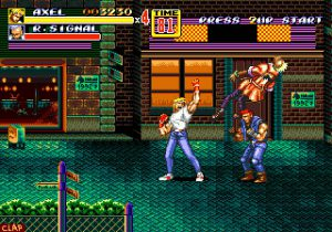 mouvement uppercut avec personnage axel streets of rage II megadrive