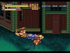personnage max catcheur streets of rage 2 sega megadrive