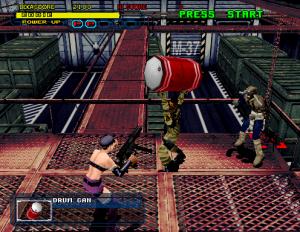 jeu beat em all violence dynamite cop dynamite deka 2 sur sega arcade