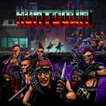 jaquette du jeu run & gun retro 16 bits huntdown sur ps4 switch steam