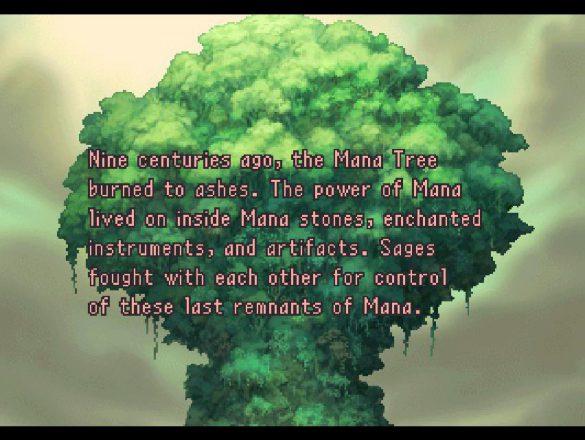 Legend of Mana intro arbre mana