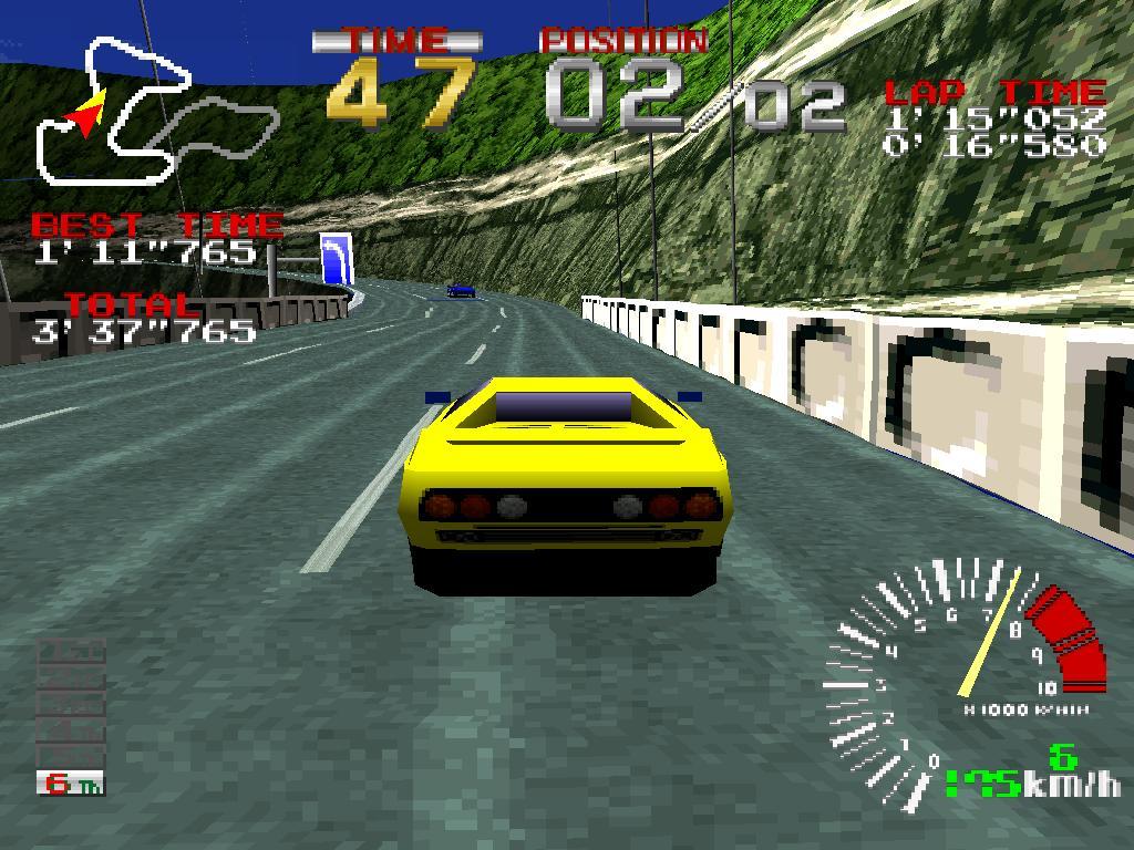 virtua racer sur borne d'arcade namco