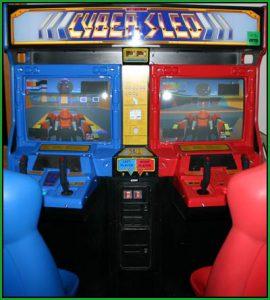 jeu arcade cyber sled borne namco system21