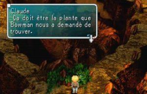 Claude de Star Ocean trouve l'Aconit