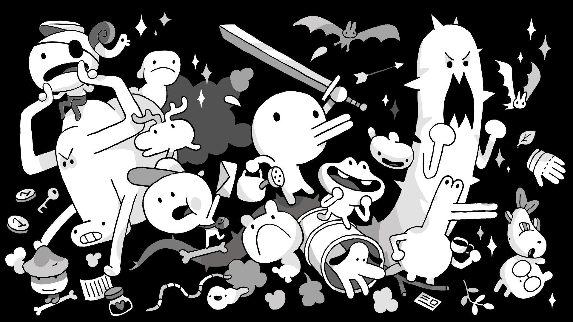 artwork des personnages du jeu 8 bits minit