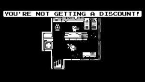 marchand d'armes et items dans le jeu minit sur XBox one