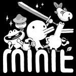 logo du jeu retro mini avec le heros