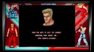 mode arcade de street fighter 1