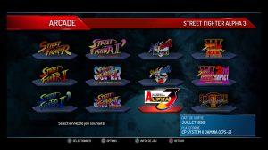 La liste des jeux Street Fighter jouables dans 30th anniversary collection
