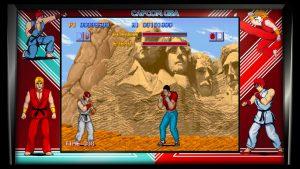 screeshot du premier jeu street fighter de la collection 30e anniversaire