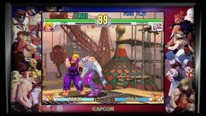 screenshot de street fighter alpha sur la collection ps4