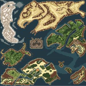 carte complète du monde du jeu Vairon's Wrath