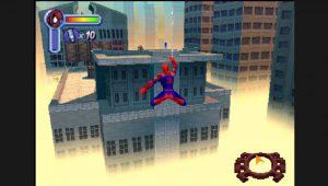 sequence jeu aérien dans spider-man PSX