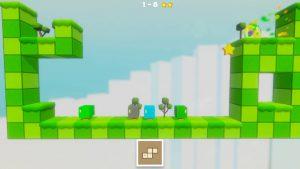 transformation des personnages cube dans le jeu tetra's escape sur switch