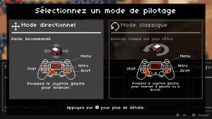 les modes de direction du jeu de course super pixel racers