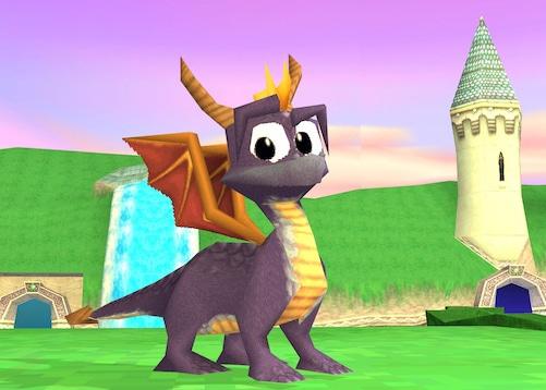 modelisation du dragon spyro sur ps1