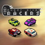 jaquette du eu video de course super pixel racers