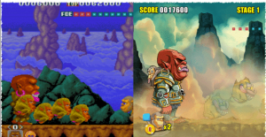 premier boss niveau 1 dans toki arcade et toki remake