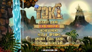 ecran de demarrage menu toki remake version xbox