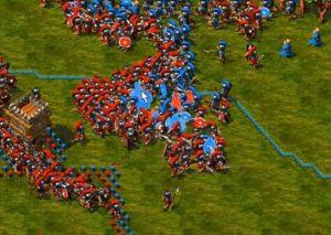 bataille entre 2 armées the settlers 3
