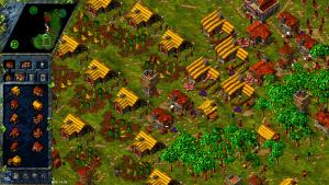 fermes et porcheries dans the settlers 3 jeu de stratégie retro sur PC