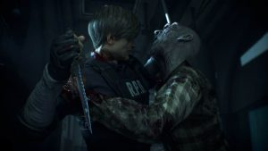 coup de couteau leon kennedy resident evil 2 remake