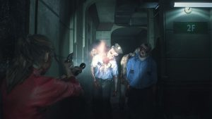 zombie policier attanquant claire redfield resident evil 2
