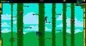 le niveau de la foret de bambous dans le jeu the messenger sur nintendo switch