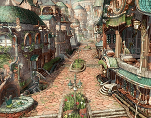 rue ville lindblum rpg final fantasy ix sur ps1