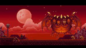 Le roi des démons en 16 bits dans le jeu de ninja the messenger