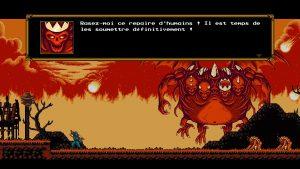 le roi des démons dans le jeu the messenger sur switch