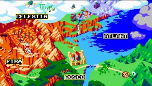 carte du monde du jeu aggelos sur nintendo switch