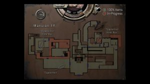 carte interactive de resident evil 1 hd sur ps3